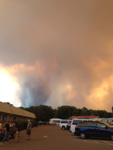 Thick smoke fills the sky from the High Park Fire in Fort Collins, Colorado.  (PRNewsFoto/The Allstate Corporation)