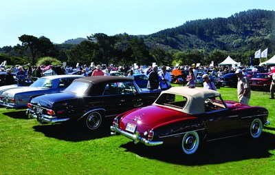 Mercedes-Benz Club of America Members will present over 80 vehicles for judging and viewing at the 5th annual Legends of the Autobahn, August 15, 2014 in Monterey, CA (PRNewsFoto/Mercedes-Benz Club of America)