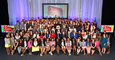 Disney Dreamers Academy Class of 2016 Disney Dreamers join (behind Mickey Mouse L-R) Mikki Taylor, editor-at-large for Essence Magazine, Michelle Ebanks, president of Essence Communications, Inc., radio and TV personality Steve Harvey, Tracey D. Powell, executive champion of Disney Dreamers Academy, and Mickey Mouse on March 6, 2016 to celebrate the commencement of the ninth Disney Dreamers Academy with Steve Harvey and Essence Magazine at Walt Disney World Resort in Lake Buena Vista, Fla. The annual...