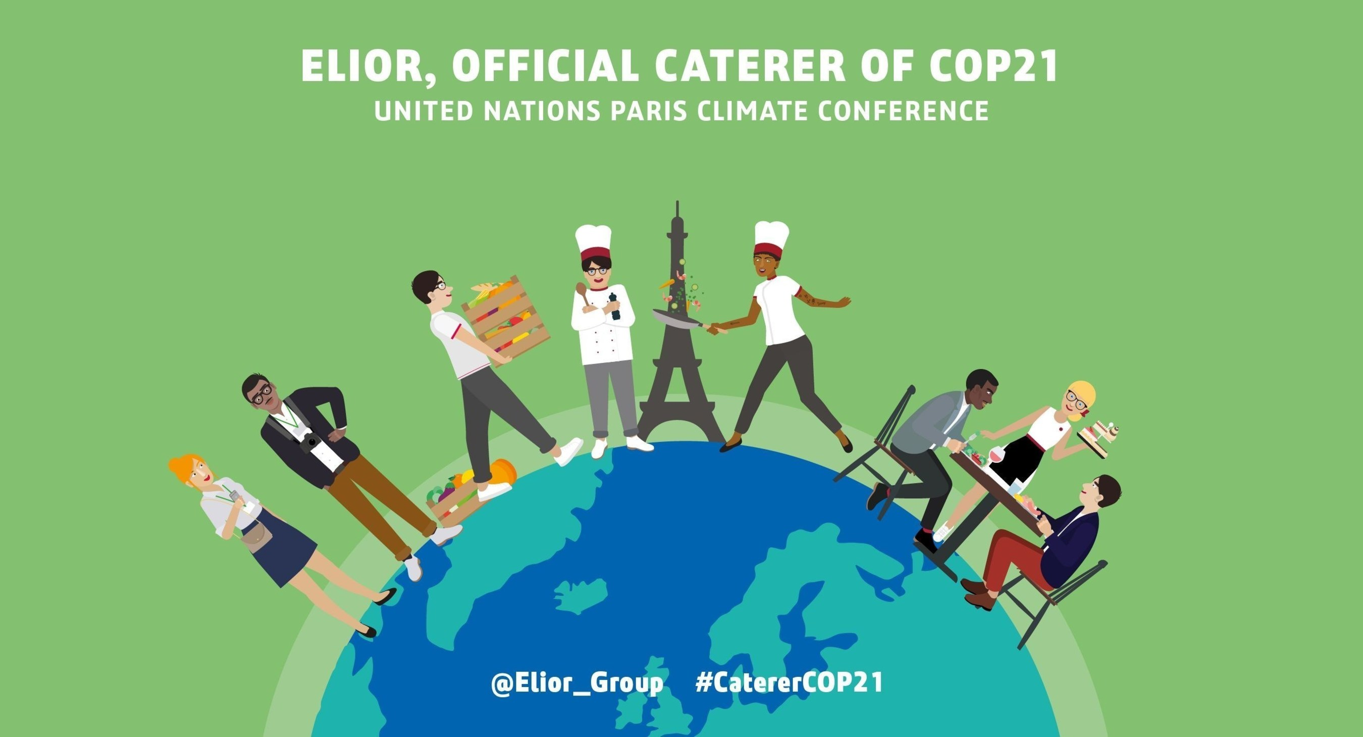 From November 30 to December 11, Elior Group, one of the world's leading operators in the contracted food and support services industry, is leveraging its expertise to serve the 21st Conference of the Parties (COP21), the United Nations Climate Change Conference. Committed for more than 10 years to socially and environmentally responsible practices in every step of the value chain, Elior Group has been chosen as official caterer of the largest diplomatic event dedicated to the preservation of the planet.