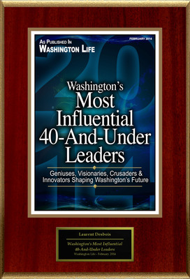 "Laurent Desbois Selected For ""Washington's Most Influential 40-And-Under Leaders 2014"".  (PRNewsFoto/American Registry)"