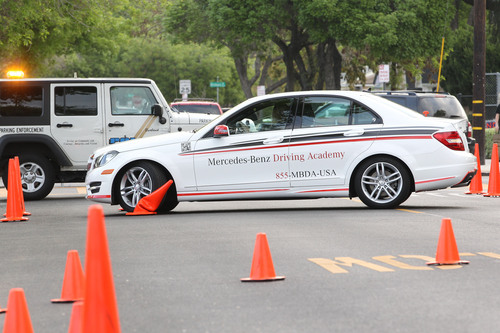 Mercedes-Benz Driving Academy Coaches Teens To Be Safer Drivers With Distracted Driving Demonstrations.  (PRNewsFoto/Mercedes-Benz USA)