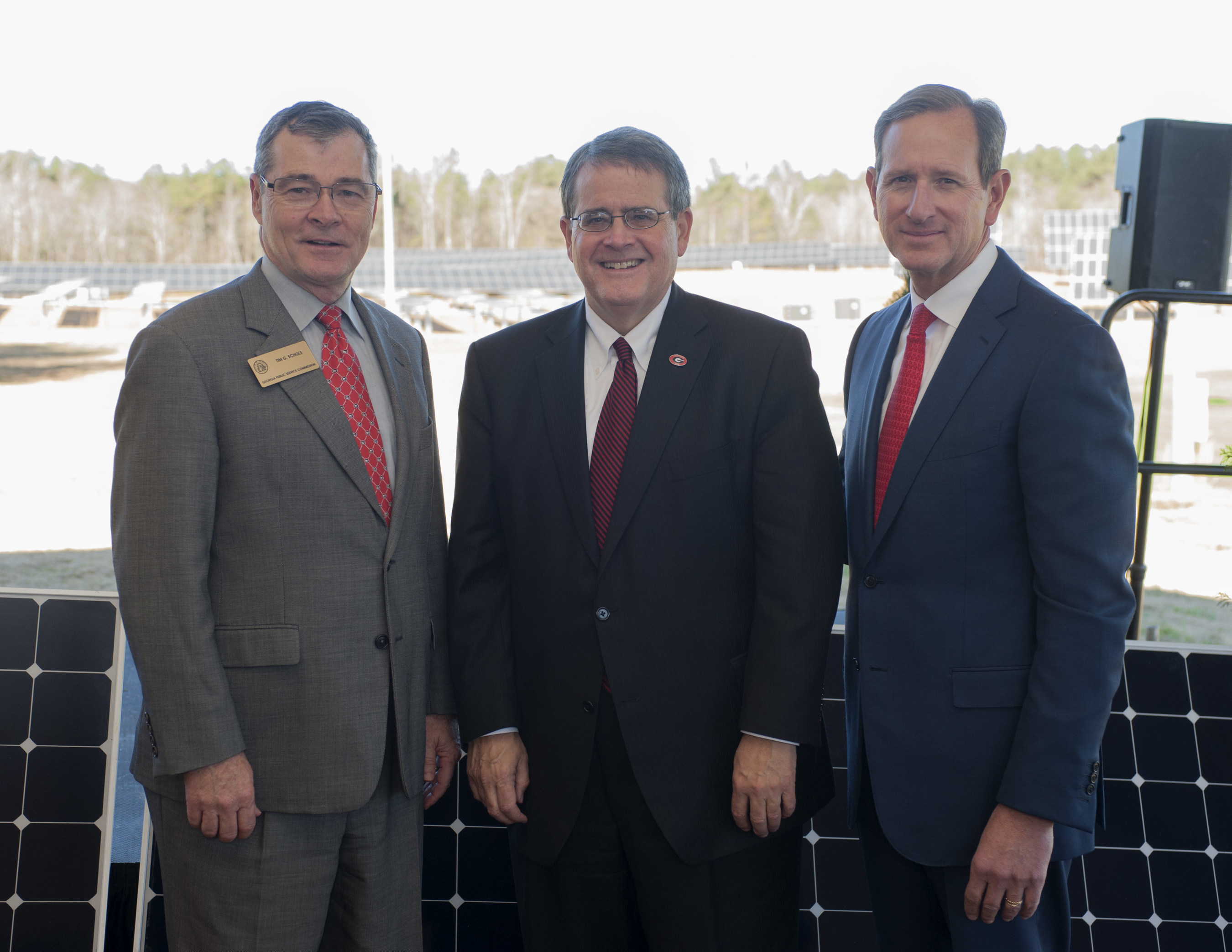 (Left to Right) UGA President Jere W. Morehead; Georgia Power Chairman, President & CEO Paul Bowers; and ...