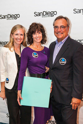 Pictured (L-R):  Erin Chambers Smith, Editor of San Diego Magazine; Susan Salka, President and CEO, AMN Healthcare, and Jim Fitzpatrick, CEO & Publisher of San Diego Magazine. Photo credit: E3 Photography.  (PRNewsFoto/AMN Healthcare Services, Inc.)