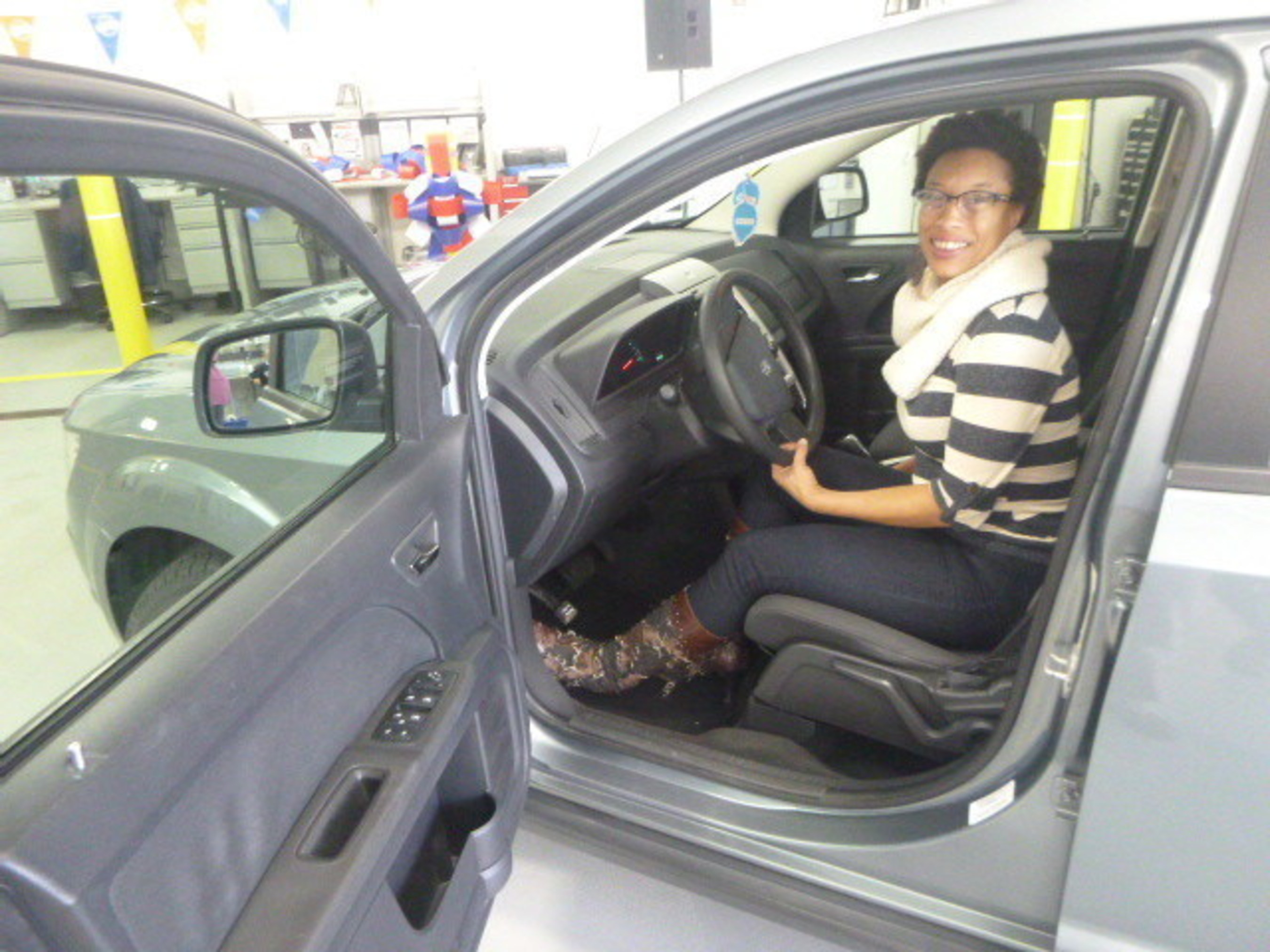 Navy veteran Terri Walker of St. Louis was given a 2010 Dodge Journey. Walker plans to use her new vehicle to help transport her sons to school, drive to her job as a private chef and caterer, and visit her mother.