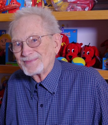 Norman Bridwell, the author/illustrator of the Clifford the Big Red Dog series of children's books.  photo credit: Rich White