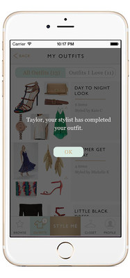 Notification - Your stylist notifies you when your look is ready and shop-able