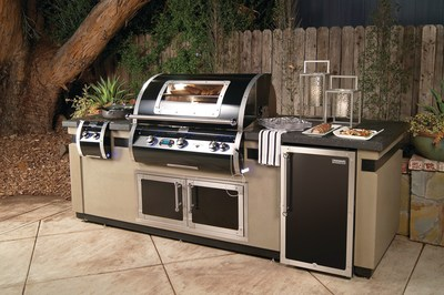 Fire Magic Black Diamond Edition Grill and Custom Island Create the Ultimate Outdoor Kitchen