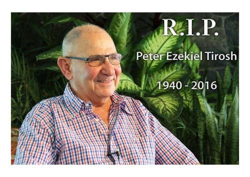 Peter Tirosh Pioneer of Stockton Group Passes Away (PRNewsFoto/The Stockton Group)
