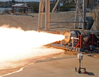 Aerojet's LEO-7 Second Stage Rocket Motor Completes Successful Hot-Fire Test.  (PRNewsFoto/Aerojet)