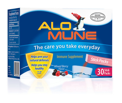 Alomune is an immune supplement backed by the Good Housekeeping Seal and shown in clinical research to help healthy people stay healthy on measured immune outcomes.  (PRNewsFoto/Alomune)