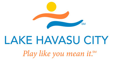 "Lake Havasu City's new full-color logo symbolizes the southwest Arizona sun, mountains and water -- considered perfect locations for serious ""play"".  (PRNewsFoto/Lake Havasu City Convention & Visitors Bureau)"