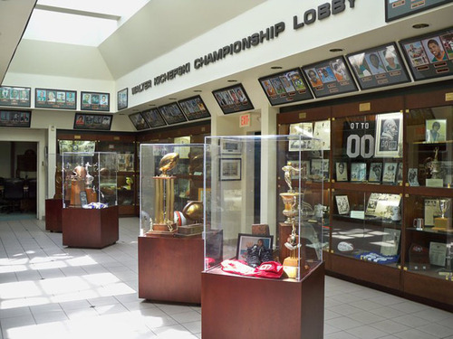Located in Coral Gables, Fla., the University of Miami Sports Hall of Fame recognizes student athletes, coaches and administrators who have contributed the most to Hurricanes Athletics over the years. On display are photos of each of the inductees, the ...