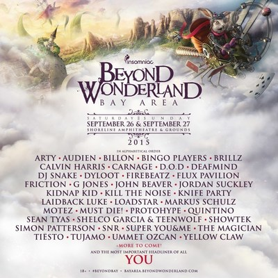 FIRST ROUND OF INCREDIBLE ARTISTS ANNOUNCED FOR 4th ANNUAL BEYOND WONDERLAND, BAY AREA