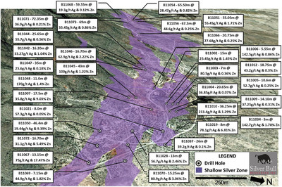 """Silver Bull Intersects 9.81% Zinc Over 46.4 Meters and 100g/t Silver Over 43 Meters on the """"Shallow Silver Zone"""" at the Sierra Mojada Project, Coahuila, Mexico"""