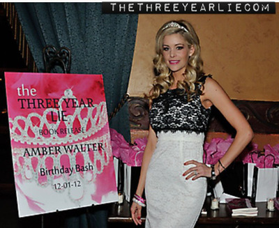 Photo of Amber Walter author of The Three Year Lie at her release party.  (PRNewsFoto/TCC 2)