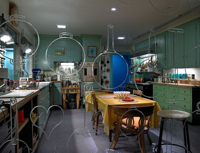 Julia Child's Kitchen, the opening story in the new exhibition FOOD: Transforming the American Table 1950-2000 at the Smithsonian's National Museum of American History.  (PRNewsFoto/Smithsonian's National Museum of American History, Hugh Talman)
