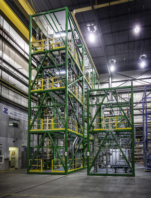 Anellotech's TCat-8 development and testing unit for converting biomass to BTX. Photo courtesy of Zeton Inc.