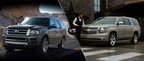 Although similarly sized, the 2015 Ford Expedition holds a few advantages over the 2015 Chevy Suburban. (PRNewsFoto/Matt Ford)