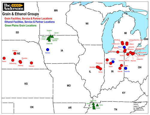 The Andersons Signs Agreement to Purchase 12 Grain Elevators and Two Farm Agronomy Centers from