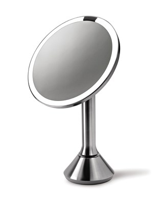 The simplehuman mini sensor mirror tru-lux light system provides a brighter, clearer, color-correct view. Now available at www.sephora.com. (PRNewsFoto/simplehuman)