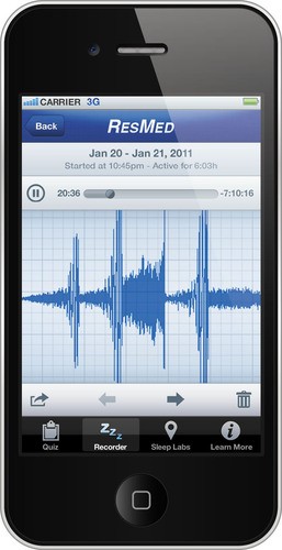 ResMed Announces New iPhone App.  (PRNewsFoto/ResMed)