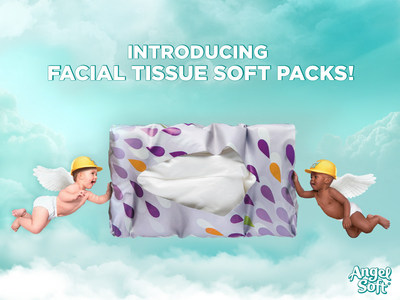 New Angel Soft(R) Facial Tissue Soft Packs feature crush and water resistant packaging that's versatile enough to stand up to your everyday life. (PRNewsFoto/Georgia-Pacific)