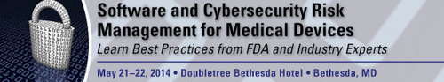 FDAnews Announces: Software and Cybersecurity Risk Management for Medical Devices Workshop, May 21-22, Bethesda, MD (PRNewsFoto/FDAnews)