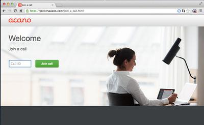 Connect via Acano with WebRTC. (PRNewsFoto/Acano) (PRNewsFoto/ACANO)