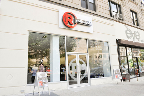 The new RadioShack concept store at 2268 Broadway in New York showcases the retailer's new branding, as ...