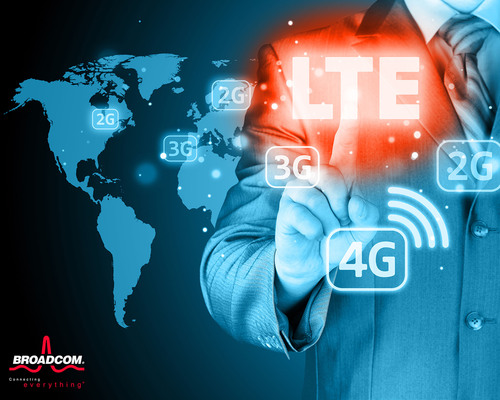 Broadcom's turnkey LTE platform targets growing sub $300 smartphone market.  (PRNewsFoto/Broadcom Corporation)