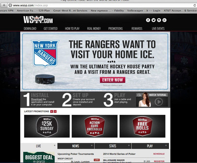 New York Rangers become official online gaming partner of the World Series of Poker - WSOP.com