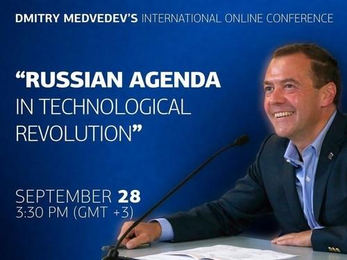 Join Dmitry Medvedev's International Online Conference 'Russian Agenda in Technological Revolution' (PRNewsFoto/Open Innovations Forum 2015) (PRNewsFoto/Open Innovations Forum 2015)