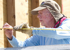 Former President Jimmy Carter working on a home in Leogane, Haiti, during Habitat for Humanity's 2012 Jimmy and Rosalynn Carter Work Project. This year, President and Mrs. Carter and an estimated 3,000 volunteers will work on homes in five cities across the U.S.  (PRNewsFoto/Habitat for Humanity International)