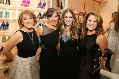 Sarah Jessica Parker interacts with guests at her new standalone SJP by Sarah Jessica Parker boutique at MGM National Harbor.