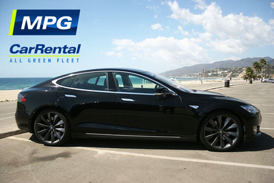 Tesla Model S MPG Car Rental.  (PRNewsFoto/MPG Car Rental)