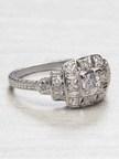 Late Edwardian Antique Engagement Ring $2125.00