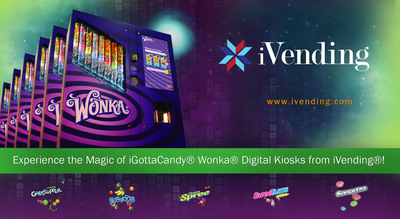 Experience the Magic of iGottaCandy(R) Wonka(R) Digital Kiosks from iVending(R) over 320 Locations in the U.S. and Canada!  Go visit: http://www.ivending.com.  (PRNewsFoto/iVending)