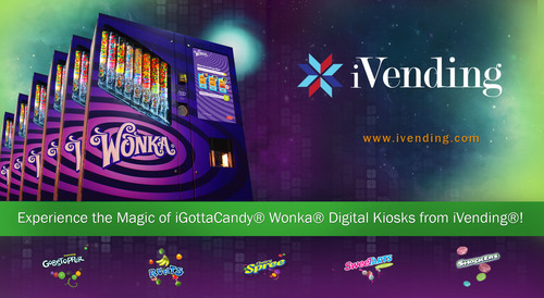Experience the Magic of iGottaCandy(R) Wonka(R) Digital Kiosks from iVending(R) over 320 Locations in the U.S. ...