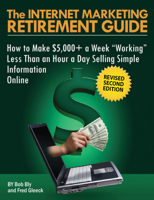 "You can leave corporate life, became completely financially independent-by creating a spare-time Internet income. Quit your job, stay home, and collect a $200,000+ a year ""retirement income"" in your spare time ... working just one hour a day ... within 18 to 24 months from today! The Internet Marketing Plan http://www.marketerschoice.com/app/?Clk=5537811."