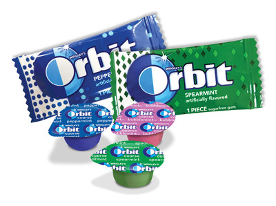 Wrigley's Orbit(R) Flavored Prophy Paste and Gum Packs