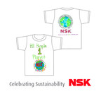 Children of NSK employees designed a T-shirt to commemorate NSK's environmental initiatives. (PRNewsFoto/NSK Americas)
