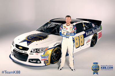 Dale Earnhardt Jr. will race his No. 88 Kelley Blue Book Chevrolet SS at the upcoming NASCAR Sprint Cup Series event at Sonoma Raceway on June 22, 2014.