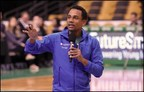 Actor/Author Hill Harper discusses smart money management with middle schoolers across the country as part of MassMutual's FutureSmart Challenge.