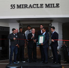 From Left to Right, Miami Commissioner Frances Suarez, Coral Gables Chamber of Commerce President & CEO Mark Trowbridge, Miami HEAT Player Mario Chalmers, Miami HEAT Player Udonis Haslem, Coral Gables Mayor James Cason, Coral Gables Commissioner Frank Quesada, CGI CEO Raoul Thomas (holding a City of Coral Gables Proclamation), City of Coral Gables Commissioner Vince Lago