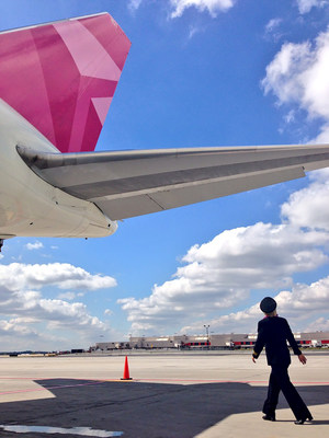 Breast Cancer One is prepared for departure as Delta celebrates 10th anniversary BCRF Survivor Flight. (PRNewsFoto/Delta Air Lines)