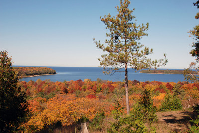 Scenic overlooks like this one in Peninsula State Park can be found throughout Door County, Wisconsin and highlight the beauty of the destination's fall colors. Photo credit: Door County Visitor Bureau/DoorCounty.com.
