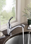 The carbon-based filter in the new American Standard Streaming Filter Faucet provides crystal clear, odor-free drinking water at a 90 percent savings over the cost of bottled water.  (PRNewsFoto/American Standard Brands)