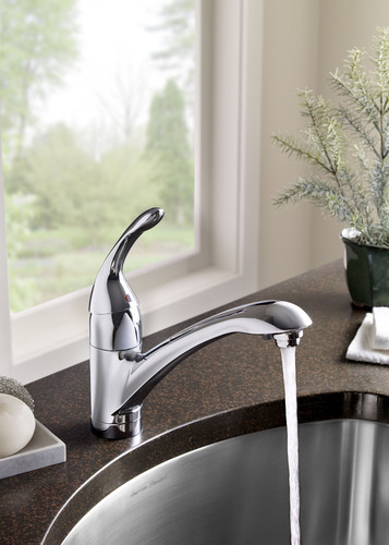 The carbon-based filter in the new American Standard Streaming Filter Faucet provides crystal clear, odor-free ...