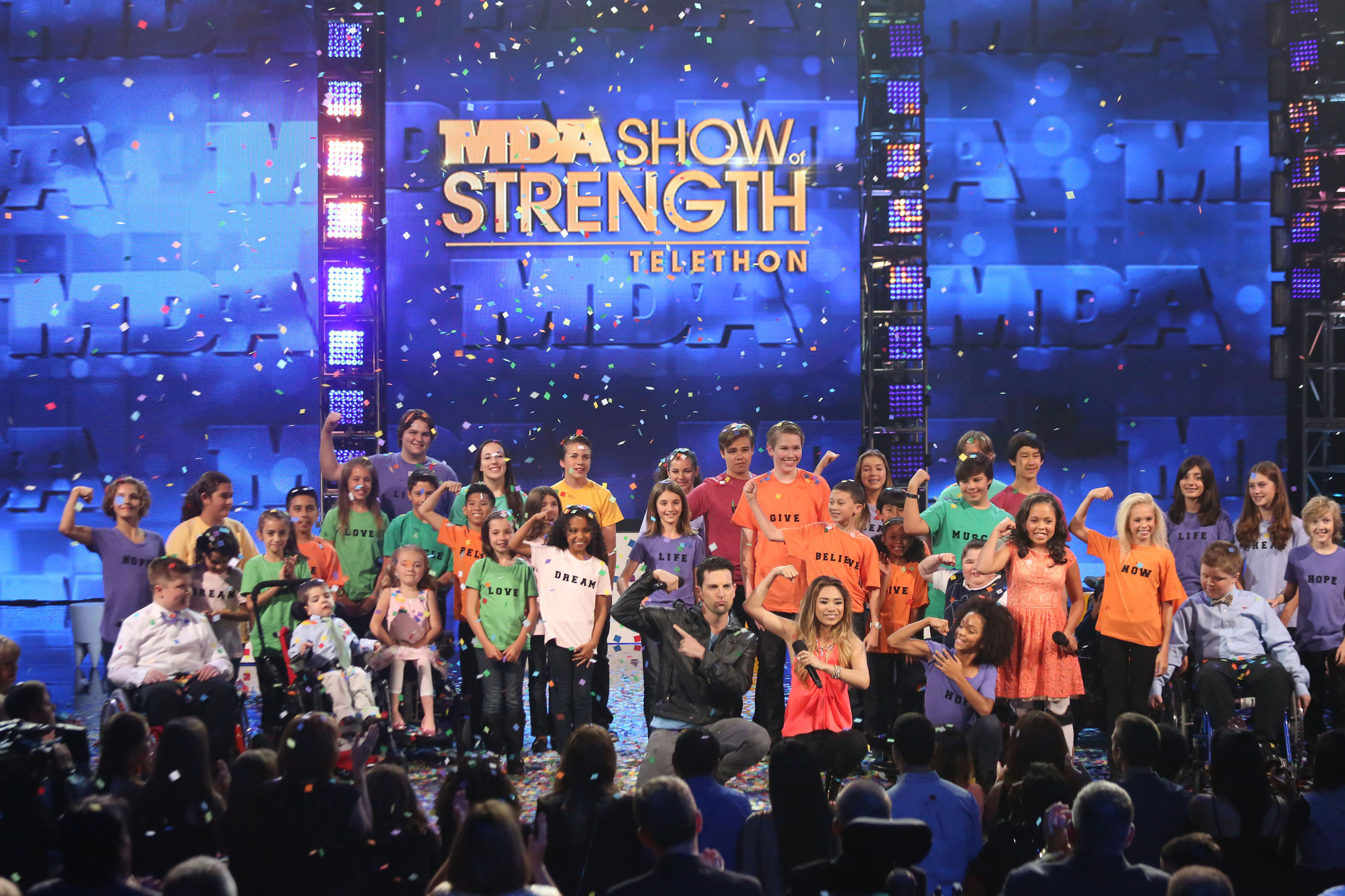The MDA Show of Strength Telethon two-hour, prime-time special to benefit the Muscular Dystrophy Association aired Sunday night on ABC.  (PRNewsFoto/Muscular Dystrophy Association)